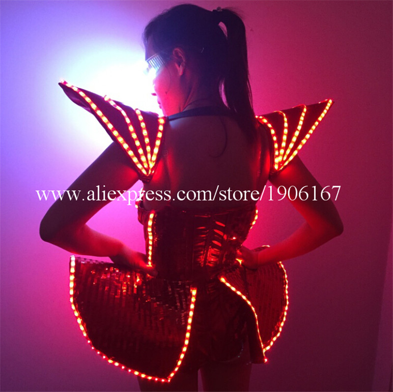 LED Lady Sexy Clothing Luminous Flashing Women Dress Costumes Suits Party Dance Accessories Event Party Supplies5