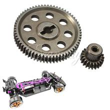 2pcs/lot RC 1:10th 11184 HSP 1/10 Gear Differential Main Gear 64T 11181 Motor Gear 21T Teeth Car Truck(China)