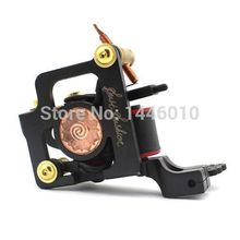 2016 Hot Sale Handmade Tattoo Machine 10 Warps Coils Steel Frame Coil Tattoo Machine Gun For Shader & Liner TM-829 Free Shipping(China)