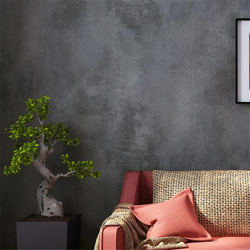 beibehang New American retro gray cement wall wallpaper plain living room bar cafe industrial wind wallpaper parede de parede<br>