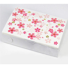10pcs/lot Romantic Sakura decoration long cookie biscuit cake boxes candy party gift package box supply favors
