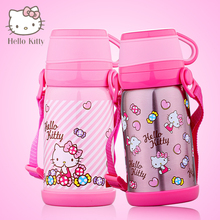 Hello Kitty Thermos Cup Lovely large capacity kids mug Insulated Stainless Steel child Drink Bottle Vacuum Flask Tumbler School