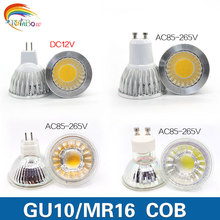 A+++ Energy Lowest price  GU10 MR16 Glass LED Bulbs Dimmable bulb Led Light 220V 230V 9W 12W  COB LED lamp light led Spotlight