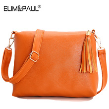 2017 Tassel Flap PU leather crossbody bag for women cheap clutch bag high quality ladies hand bags shoulder messenger bag bolsa(China)