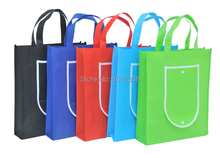 2016 wholesale reusable bags foldable non woven shopping bags promotion bag custom logo 500pcs/lot Free Shipping By Fedex or TNT