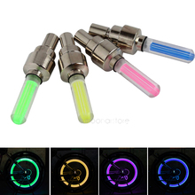 4Pcs/Set Bike Valve Cap Light with No Battery Mountain Road Bike bicycle Lights LEDS Tyre Tire Valve Caps Wheel spokes LED Light