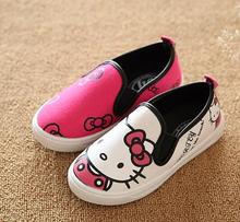 2016 Hello Kitty Children Shoes For Baby Girls Canvas Sneakers Minnie Mouse Sneakers Kids Shoes For baby Boys cute shoes(China)