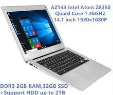 14.1 inch 1920x1080 Ultra Slim Laptop Z8350 Quard  Core 2GB RAM 32GB SSD+ Support HDD up to 2TB ,USB 3.0 WiFi,HDMI on for SALE