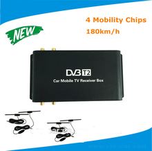 180km/h mobile digital car dvb-t2 tv receiver/ hb dvb-t2 digital tv box 4 Antenna External USB HDMI Fit Russian Southeast Asia