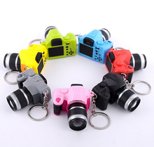 Mini camera Keychain SLR camera Keychain Car Key Chain Key Ring  LED Flashlight Colorful Kaca Key chain For Gift wholesale 17211