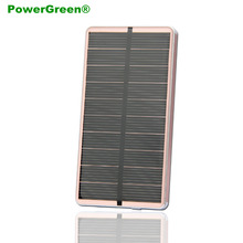 PowerGreen External Battery Charger 10000mAh Solar Power Bank Mobile Phone Battery Backup Supplier Mini Power Bank