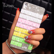 Buy Sunjolly Rhinestone Case Diamond Bling Cover Crystal coque fundas capa HTC Desire 820 816 M10 M9 Plus M8 M7 A9 X9 carcasa for $6.55 in AliExpress store