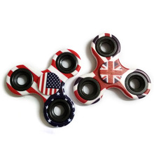 National Flag Tri-Spinner Fidget Toys Plastic EDC Sensory Hand Fidget Spinners For Autism and ADHD Kids/Adult Toys B0134