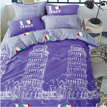 Liliya Hot Wedding Warm Bedding Set High Quality Brief Duvet Cover 4 Pcs Twin/Full/Queen Size #C-(China)