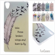 Slim glossy Campanula feathers cartoon girl feathers soft TPU IDM Coque Fundas Phone Case for Sony Xperia Z3 D6603 D6643 D6653