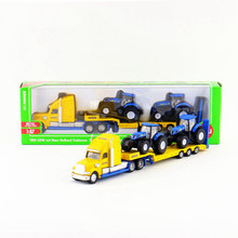 SIKU 1:87 Truck With New Holland Tractors Toy, Diecast & Metal Truck Tractor Model, Simulation Trailer, Kids Toys, Brinquedos
