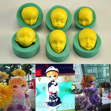 1pcs Human Head Silicone Mold Sugarcrafts Fondant Cake Decor Tools Paste Gum Chocolate Pastry Bakery Mould reposteria Patisserie