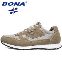 BONA New Typical Style Men Running Shoes Lace Up Mesh Upper Sport Shoes Outdoor Activities Athletic Shoes Comfortable Sneakers(China)