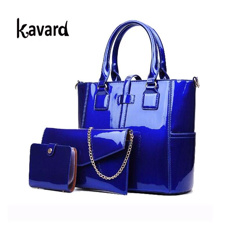 purse and handbag 2017 Patent Leather bag Composite luxury handbag women bag designer shoulder bag sac a main femme de marque<br>