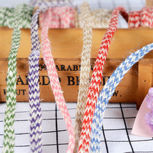 5 Meters 1cm Wide Eco Mixed Color Jute Braided Cord Gift Box String DIY Craft BJ05(China)