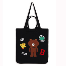 2017 New Fashion Cartoon Shoulder Tote Bag Handbag Women Casual Shopping Bookbag School Working Bags High Quality free shipping