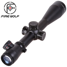 FIRE WOLF M3 4.5-14X50 Tactical Optics Riflescope Red&Green Dot Reticle Fiber Sight Rifle Scope 30mm Tube(China)