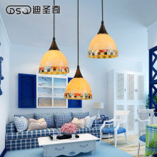One piece  Mediterranean restaurant lighting Jane European pastoral shell lamp table dining room restaurant three Chandelier