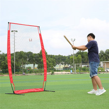 US Shipping Baseball Exercise 7*7 Mesh Net Flat Net with Frame and Carry Bag(China)