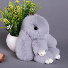 Premium Quality Super Soft Fluffy Adorable Plush Rabbit Stuffed Bunny Animal Small Pendant Hanging Toy 13cm/5'' Height Gift