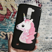 Buy Unicorn Glitter Liquid Case LG Spirit 4G LTE H440Y H440N H440 H420 C70 Cover Dynamic Cute Cartoon OWL Soft TPU Phone Funda for $3.90 in AliExpress store