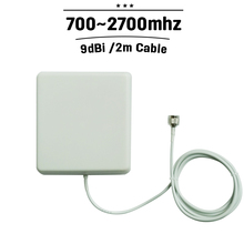 700mhz-2700mhz Indoor Panel Antenna GSM 3G 4G N Connector 9dBi Internal Antena With 2m Cable For Mobile Phone Signal Booster