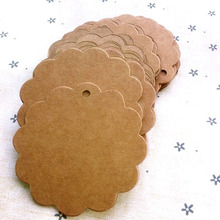 6cm*6cm wholesale homemade Kraft paper tags bookmark mood message card DIY scrapbook accessories 50pcs
