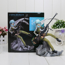 Sword Art Online 2 Asada Shino Figma 23CM Kotobukiya Asada Shino Phantom Bullet 1/8 Scale Pvc Action Figure Toys Kids Hot Gifts