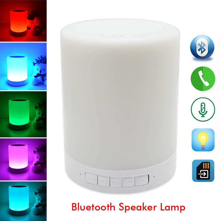 Smart Night Lights Indoor Bed Bedside Led Lamp RGB Lights Touch Control Bluetooth For TF Card Music Player by Android/IOS<br><br>Aliexpress