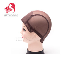 Wig Making Tools Elastic Hairnet Snood Wig Cap Black/Brown Weft Wig Cap Nylon Hair Net With Adjustable Strap For Making Wig 3PCS(China)