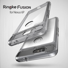100% Original Ringke Fusion Google Nexus 6P Case Premium Drop Resistance Shockproof Clear Hard Back Cover Cases for Nexus 6P(China)