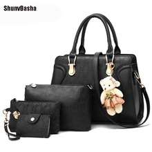 ShunvBasha Brand New Arrival Women Leather Handbags Fashion Design Great Deals 4 Pieces Crossbody Bags For Women 52 TXJ