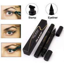 Brand Makeup Miss Rose Liquid Eyeliner Pencil Waterproof Eye Liner Black Color Eye Pencil Stamp Korea Cosmetics Gift For Girl(China)
