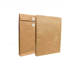 BLANK kraft envelopes, documents bag, A4/LETTER SIZE book/magazine envelopes size in 345x240x26mm(China)