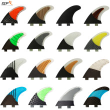 ISF Hot sale carbon fiber quilhas de surf honeycomb fcs surfboard fins thruster pranchas de sup fins surf fins G5(China)