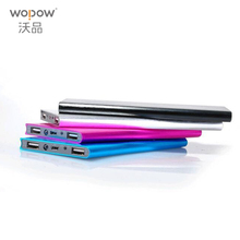 WOPOW Slim 10000mAh Mobile Power Bank book Polymer battery external charger backup Battery  portable charger for all phone