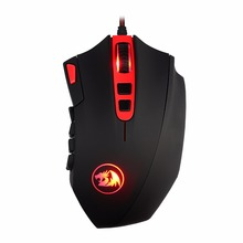 High Level  M901 LED Backlit 16400 DPI Gaming Mouse with 18 Programmable Side Buttons 9800 Chipset Laser Wired Brand Mouse
