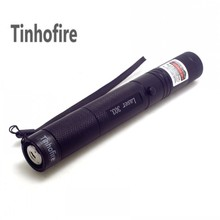 Tinhofire Top Laser 303 200mW Green Laser Pointer Laser 303 Strong Power burning Matches lazer with safe key(China)