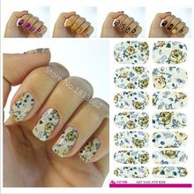 2017 Limited V641 New Fashion Water Transfer Foil Nail Stickers All Kinds Of Art Design Patterns Decorative Decal