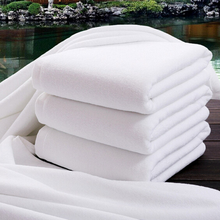 "Hot Sale 140x70cm (27x55"") 100% Cotton Bath Towel Solid White Soft Towel Home Hotel Towels Quick Absorbency Easy Clean"