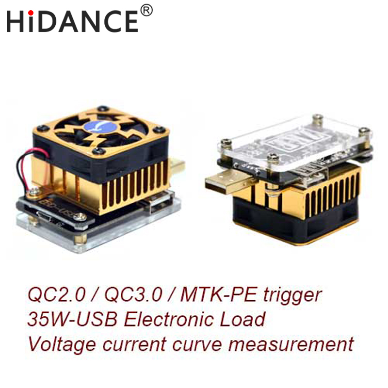 Computer software online USB tester DC discharge Load resistor QC2.0/3.0 MTK-PE Trigger Voltage Current Monitor Battery Capacity<br>