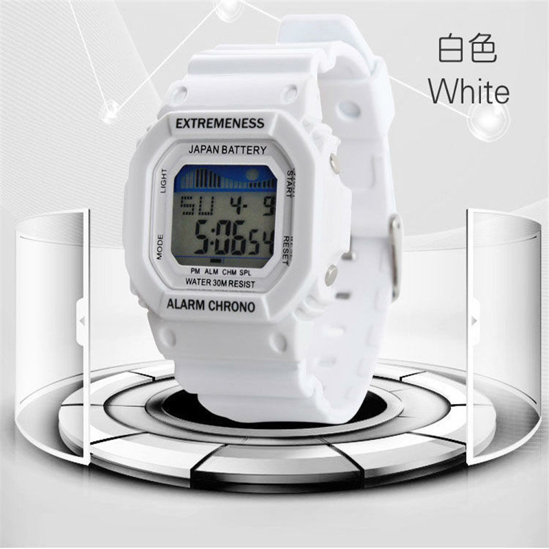 Clock Watches Digital Waterproof Women Alarm Fashion New Girl Sport Multifunctional Military title=