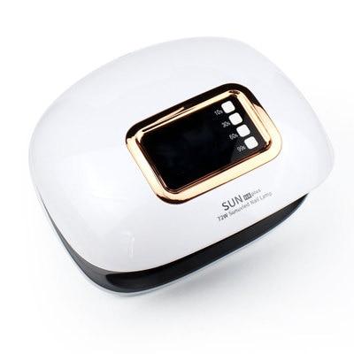 SUN H4 Plus 72W 36 LEDs UV Lamp Nail Dryer Light Polish Gel Dryer Machine 100-240V LCD Display Auto-Sensor Professional Nail Art