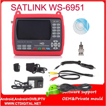 satlink WS6951 handheld sat finder dvb-s2 4.3` TFT Satlink WS-6951 Satellite Finder DVB-S2 Satellite Meter