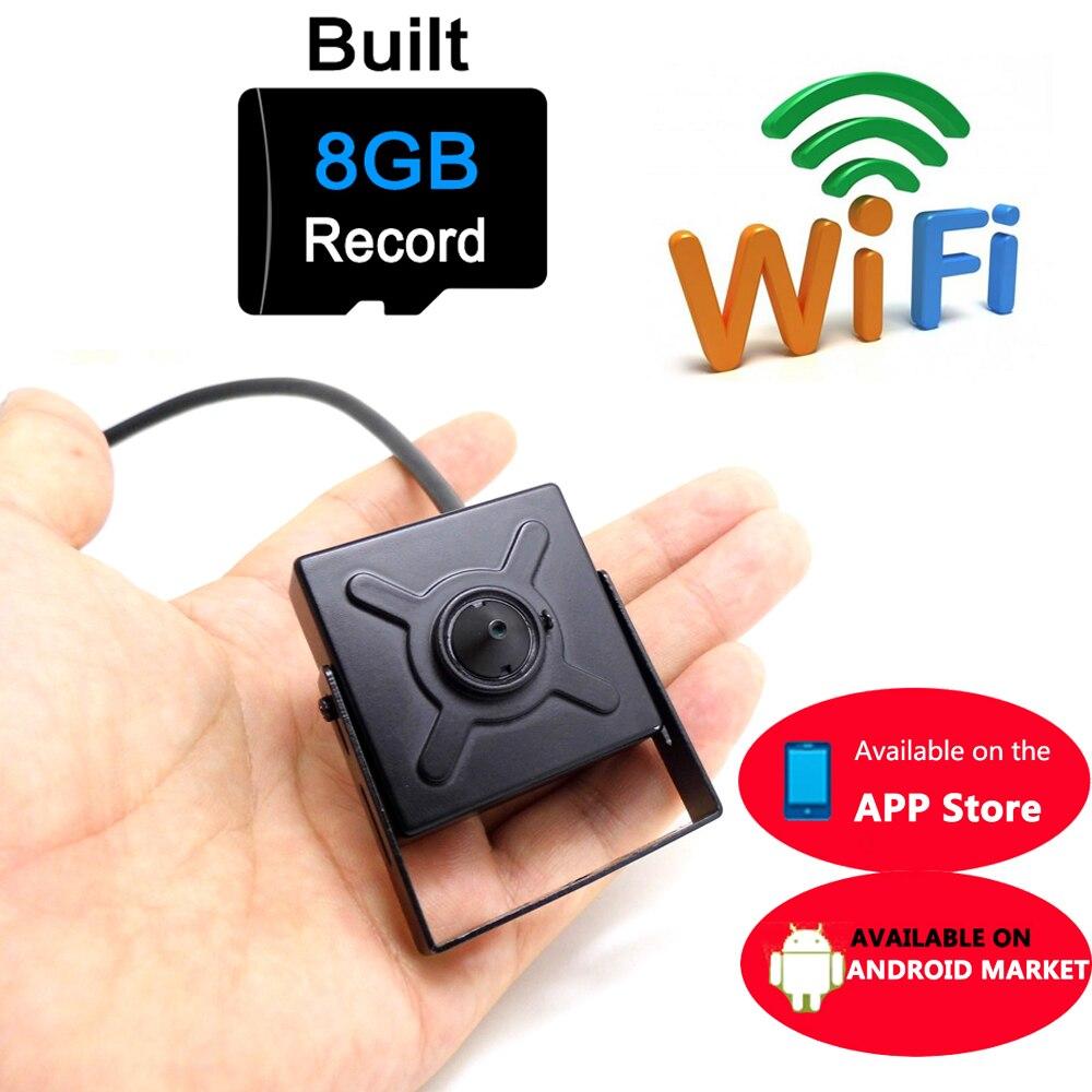 mini ip camera 720p HD wifi cctv security wireless home smallest cam 8G micro sd card slot tf surveillance p2p wi fi<br>